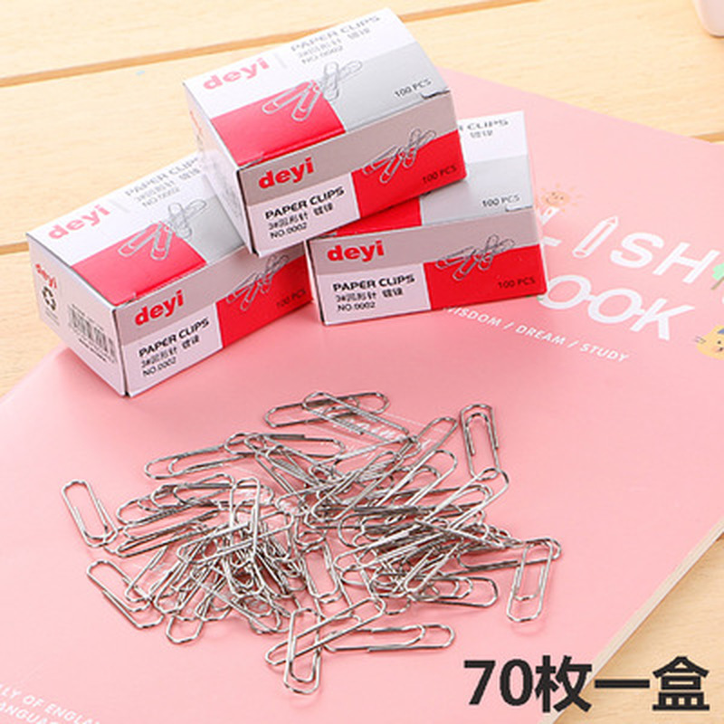 70pcs/box  Paper Clip Cute Stationery Student Paperclips Metal Kawaii Paper Clips Kawaii School Office Supplies Paper Clip