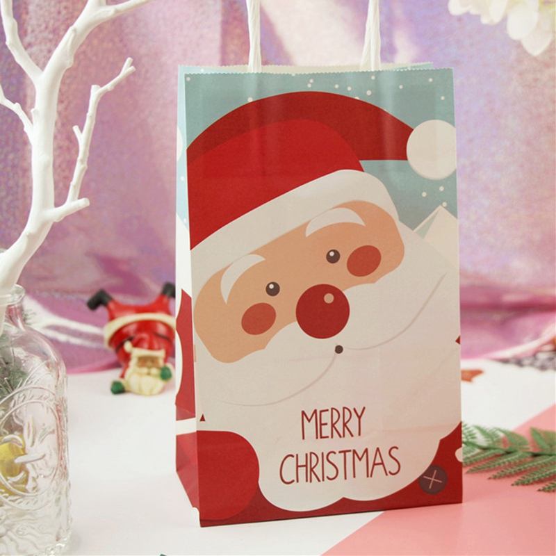 Christmas Paper Bags Gift Bags Snacks Candy Packaging