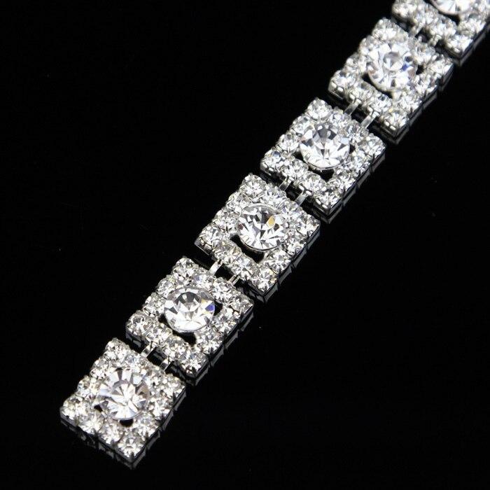 5Yards clair Diamante cristal strass chaîne garniture or Rose argent or gâteau bande ruban