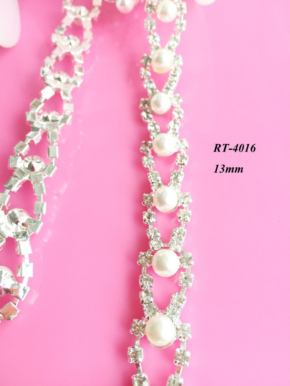 Doprava zdarma 1yard DIY perlový křišťálový lem pro svatební - Umění, řemesla a šití - Fotografie 3