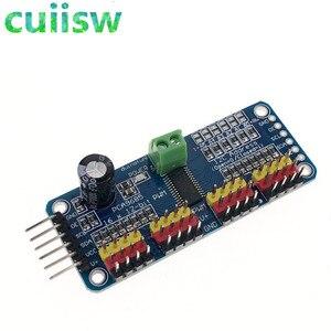 Image 1 - 16 kanal 12 bit PWM/Servo Driver I2C arayüzü PCA9685 modülü arduino veya ahududu pi kalkan modülü servo kalkan