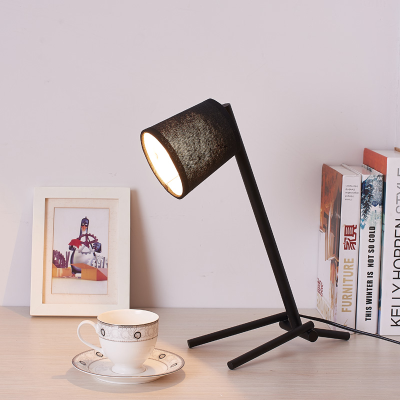 Modern Table Lamp Simple Desk Lamp E27 Iron Table Lights For Bedroom Living Room Children Reading Book Light Study Lighting tuda glass shell table lamps creative fashion simple desk lamp hotel room living room study bedroom bedside lamp indoor lighting