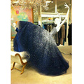 2017 longo vestidos quinceanera bola vestido de debutante vestidos de 15 años royer azul frisada sweet 16 vestidos plus size ly158