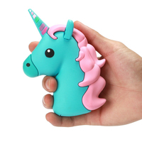 1800mAh Unicorn Cartoon Emoji Shaped Power Bank Portable External Battery Charger For Iphone X Charging For