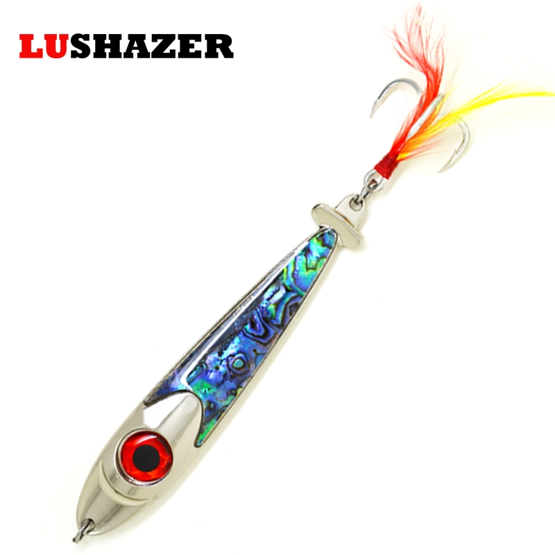 LUSHAZER Fishing spoon 63g metal VIB ice fishing lure winter fishing baits bass carp fishing tackles equipment free shipping 30pcs set fishing lure kit hard spoon metal frog minnow jig head fishing artificial baits tackle accessories