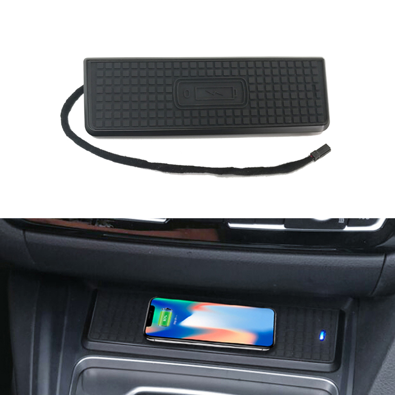 10W car QI wireless charging phone charger fast charging panel plate accessories for BMW 3 4