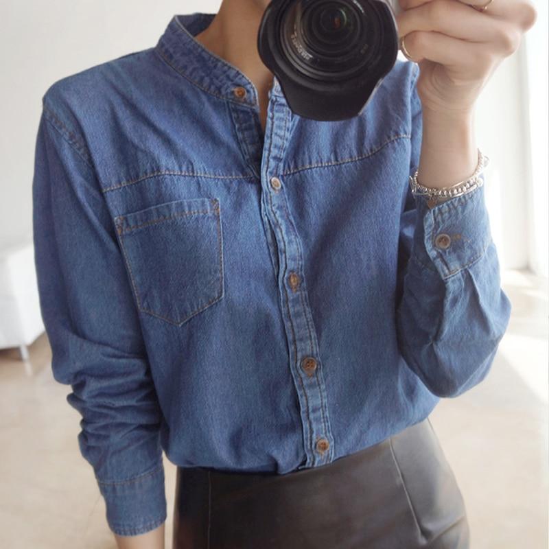 Buy ladies denim shirts long sleeve light for Ladies light denim shirt