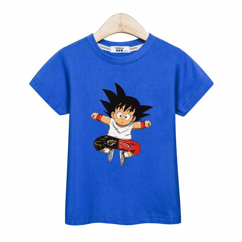 e78945af8 ... Fashion Goku t-shirt kids Dragon Ball Clothes Short Sleeve boys tops  Tees Summer Cotton ...