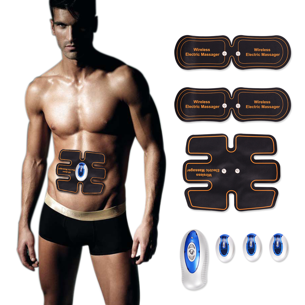 New Wireless abs stimulator EMS abdominal muscle trainer device Hous abdominal muscles intensive training Loss Slimming Massager multi function smart ems abdominal muscle stimulator exerciser trainer device muscles training weight loss slimming massager 30