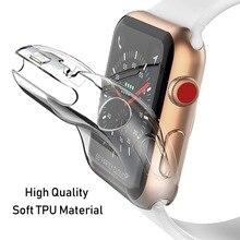 Силиконовый чехол для apple watch 4 5 44 мм 40 мм iwatch 42 мм 38 мм все вокруг ультратонкий прозрачный apple watch 4 5 3 2 Аксессуары