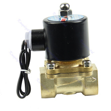 New Brass 12V DC 1/2″ Electric Solenoid Valve Water Air Fuels Gas Normal Closed