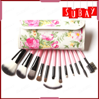 12 Pieces Professional Goat Hair Make Up Brush Pony Synthetic Hair Makeup Tools Accessories Sale