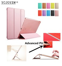 цена на YCJOYZW-PU Leather Cover +PC case Auto Sleep protective shell - Smart Cover Case for 2014 Apple ipad Air 2 : A1566`A1567 case