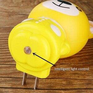 Image 4 - Cartoon LED Nacht Licht AC220V 110V Kinder Nacht Lampe In Tiger/Bear Kinder Geschenke Nachtlicht Für Schlafzimmer Nacht lampe