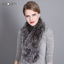 DUOUPA New 100% Hign End Real fox fur collar Woman luxury comfortable real scarf Lady Elegant