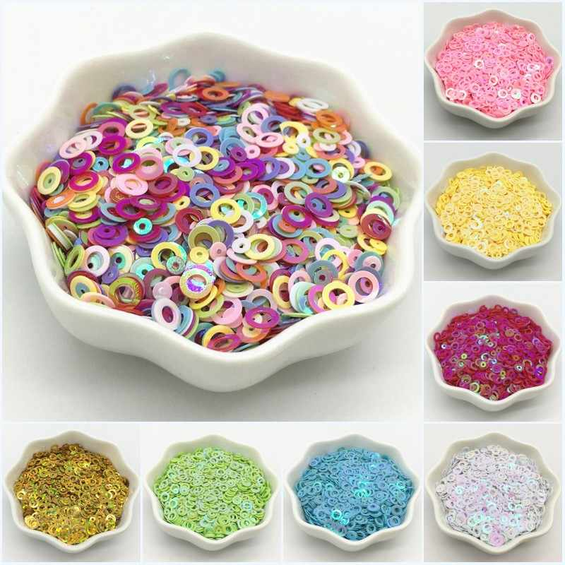 10g Ronde Cirkel Nail Sequin 3mm PVC Losse Sequin voor Meisjes DIY Nails Arts Manicure Naaien Craft Wedding decoratie Lentejuelas
