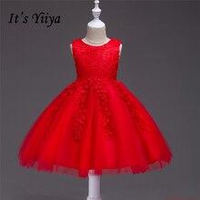 Это yiiya новый фиолетовый для девочек в цветочек платья Красивая Гольфы принцессы бальное o-образным вырезом без рукавов бак Девушки платье 802