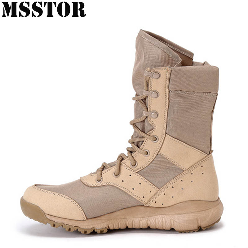 MSSTOR Men Hiking Shoes Man Brand Waterproof Tactical Boots Hunting Trekking Camping Sport Shoes Sneakers Climbing Hiking Boots