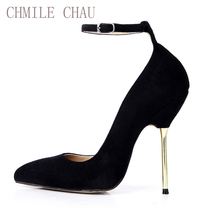 CHMILE CHAU Black Suede Sexy Party Shoe Women Pointed Toe Stiletto High Heel OL Lady Pumps Plus Sizes 10 Zapatos Mujer 3845A-d2