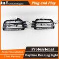 A & T estilo do carro Para VW touareg LED DRL Para touareg nevoeiro lâmpadas led daytime running luz guia de Alto brilho LED DRL
