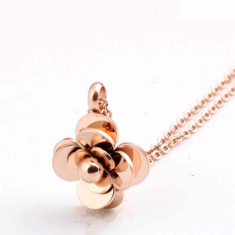 ZORCVENS Heißer mode Rose Gold Farbe Edelstahl frauen halskette kamelie halskette blume Choker halsketten