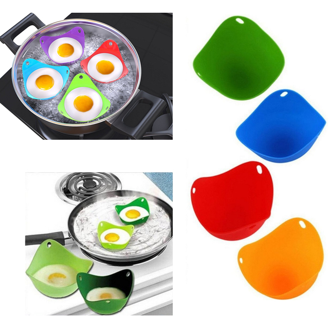 Silicone Egg Poacher Cups Cooking Perfect Poached Eggs For Microwave Or Stovetop Cooker