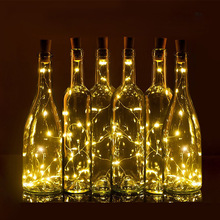 75 CM 1M 2M Wine Bottle Cork Shaped led Spark Starry String Lights Christmas Wedding Party Indoor Outdoor Decoration lampa światła