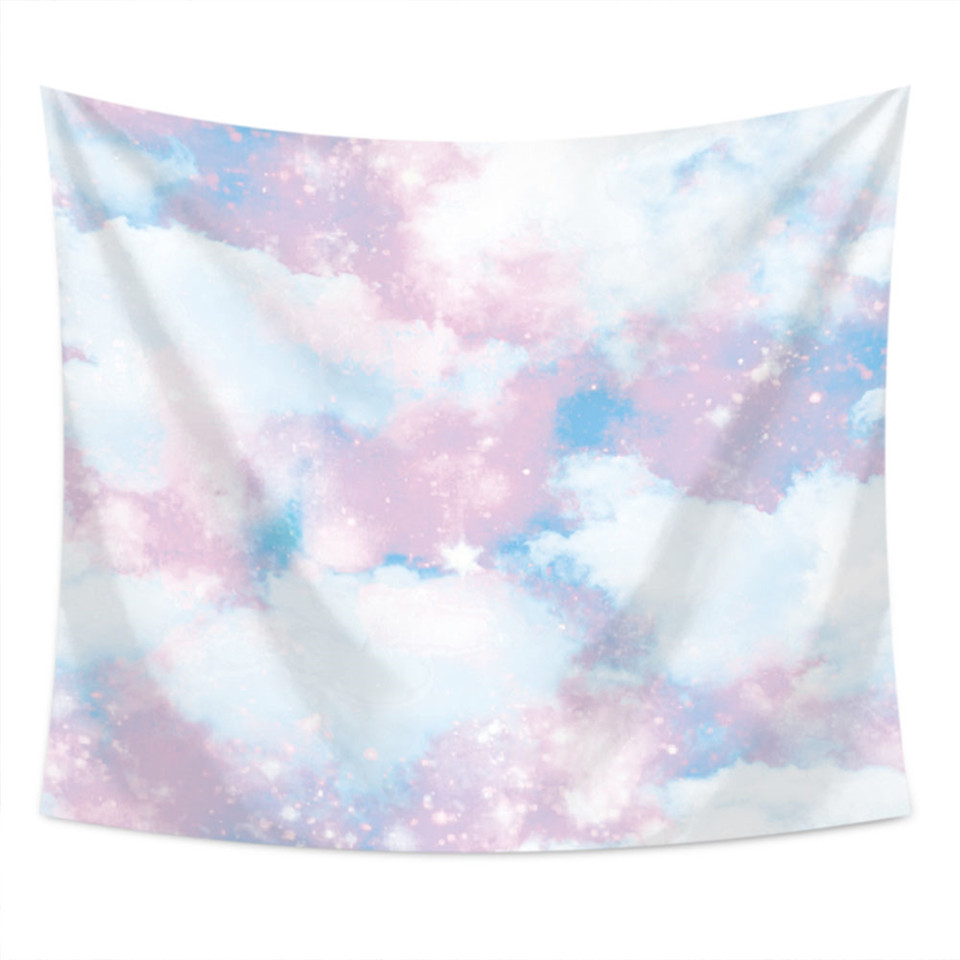 SOFTBATFY Cloud Tapestry Bedside Wall Art Hanging Home Decor Tapestry