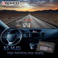 100% Original OBDHUD X5 Auto Heads-Up Emoji Auto Display Über Geschwindigkeit Alarm Besser Als HUD A100S