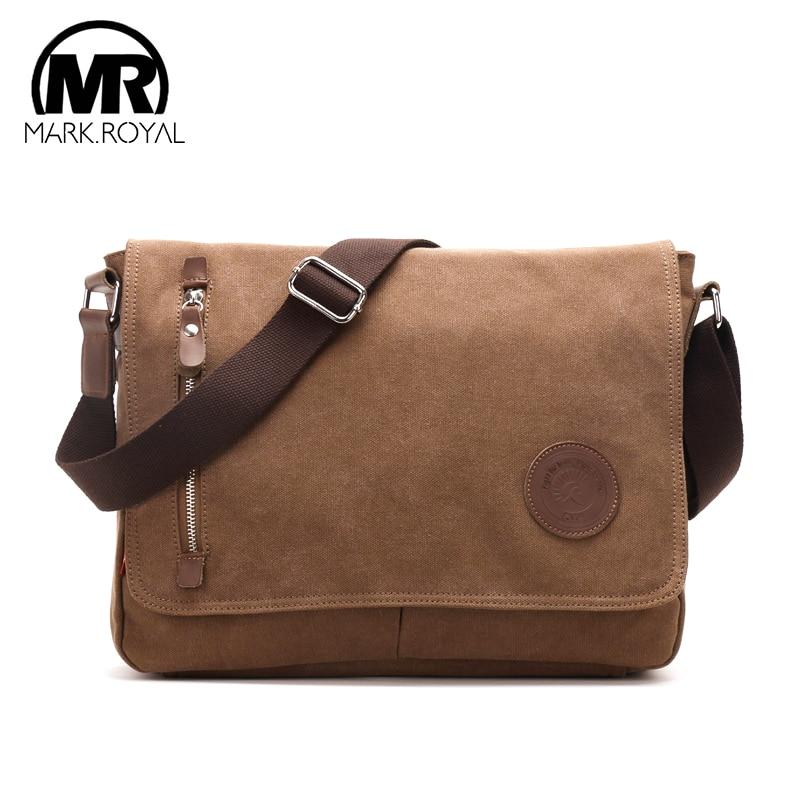 MARKROYAL Canvas Mens Crossbody Bags Male Luxury Brand Messenger Bag Cross Body Men's Satchel Pack Laptop Shoulder Bag For Men