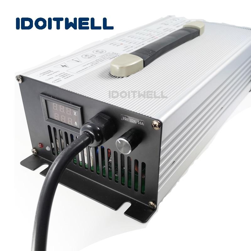Подгонянное 1200 Вт регулируемое зарядное устройство для аккумулятора 96 в 8A 5A 3A ток 3 этапа регулируемое зарядное устройство с дисплеем