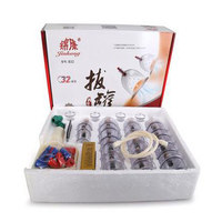 32 Pieces Cans cups chinese vacuum cupping kit pull out a vacuum apparatus massage cupping therapy relax suction pumps massagers