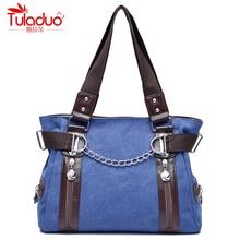 High Quality Canvas Women Handbags Double Zipper Chains Women Shoulder Bags Fashion Patchwork Designer Women's Top-Handle Bags