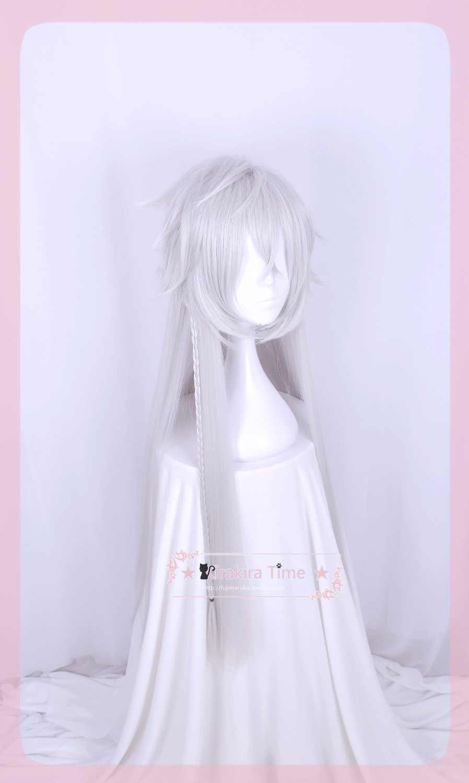 Kuroshitsuji Phantomhive Ciel Cosplay Wig Under Taker Silver Anime Black Butler 110cm Long Hair