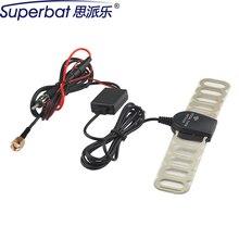 Superbat автомобильный тв цифровой DVB-T FM антенна усилитель SMA штекер разъем для DVB-T настраиваемый TDT
