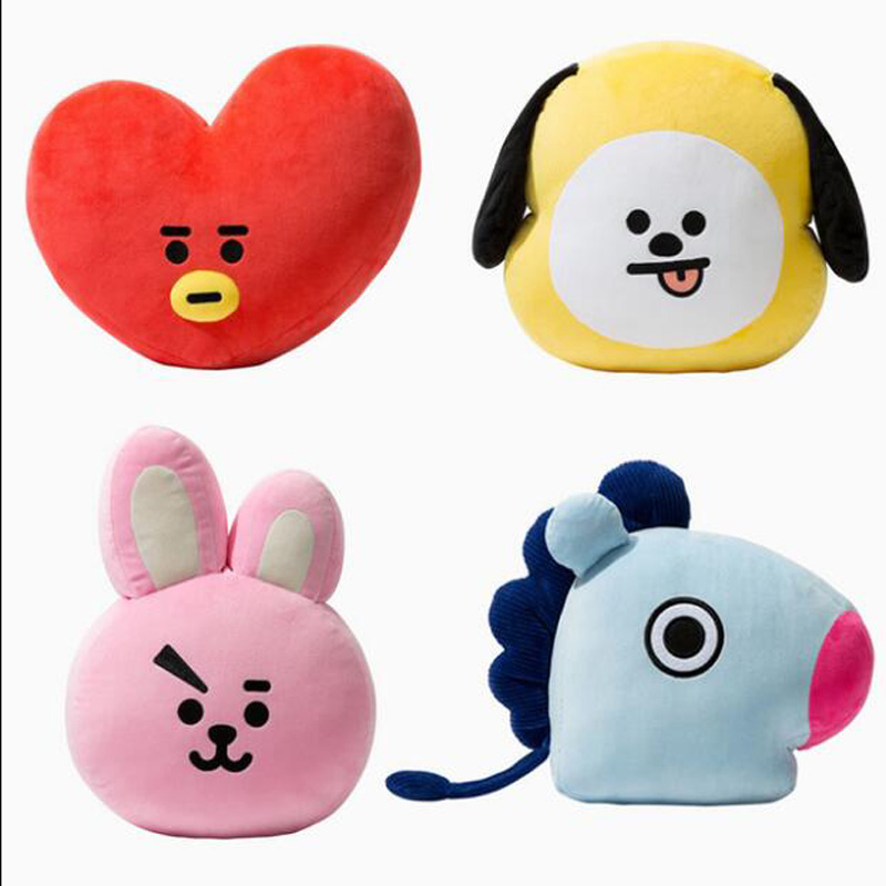 Best Selling  Plush Pillow Bulletproof Youth Group Doll Pillow Jin Taiheng TATA Pillow RJ SHOOKYBt21 Hot Sale Doll Cushion(China)