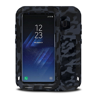 FOR Samsung S8 Case S8 Plus CAMO Shockproof Phone Camouflage Metal Cover Aluminum Armor FOR Samsung