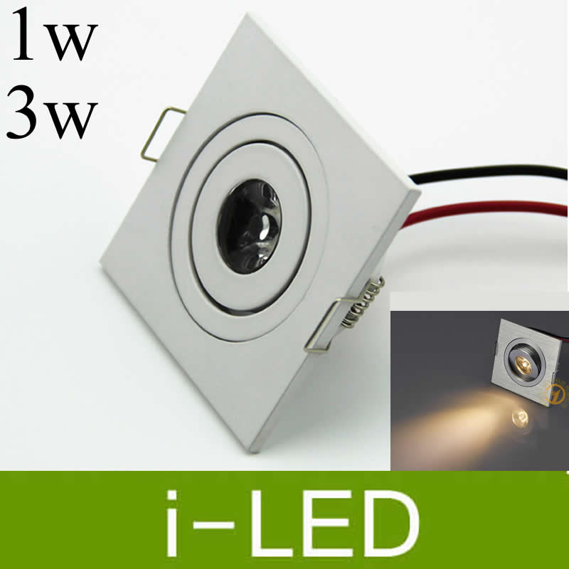 Led Lighting Methodical Silver Shell 3w 1w Led Ceiling Downlight Dimmable Led Recessed Cabinet Light Lamp Ac85-265v 12v Led Driver 3 Years Warranty