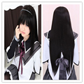 Cosplay Wig For Madoka Magic Akemi Homura Long Straight  Black Wig With Bangs Heat Resistant Synthetic Hair Wigs Peruca Pelucas