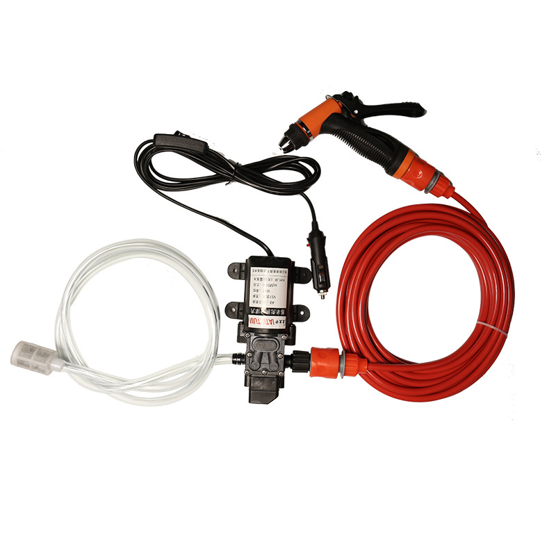 Portable Electric Car Washer water Pumper 70W 130PSI High Pressure Self-Priming Car Wash Pump DC 12V Clean Set Tool Machine free shipping high pressure self priming electric car wash washer water pump 12v car washer washing machine cigarette lighter