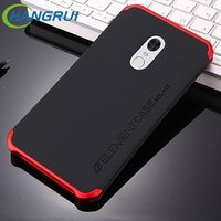Hangrui For Xiaomi Redmi Note 4X Case Metal Frame Hard Plastic Full Body Protective Back Cover