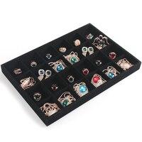 Black Velvet Jewelry Display Tray Necklace Organizer Box Bracelet Holder Pendant Storage Plate Wholesale Jewelry Display
