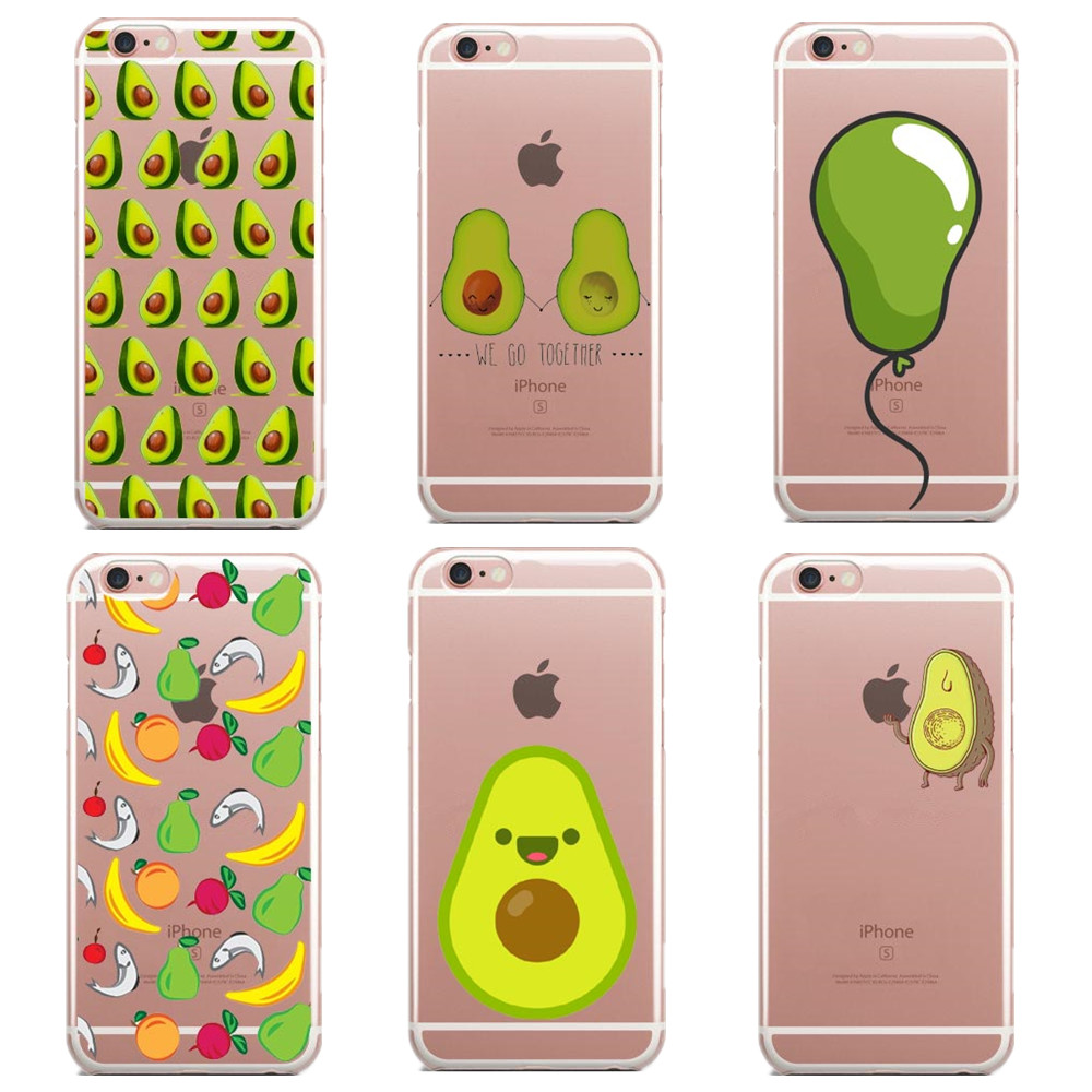 New design Delicious Avocado Pattern silicone TPU Phone