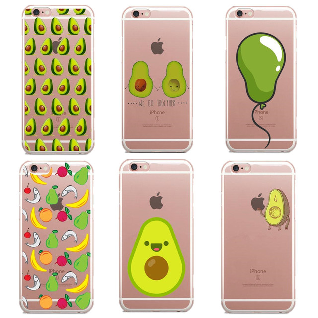 quality design 68cdf 32e85 US $1.72 49% OFF New design Delicious Avocado Pattern silicone TPU Phone  Back Case Fruit Case Cover For Apple Iphone 5 5s 6 6s 6Plus 7 7Plus SE-in  ...