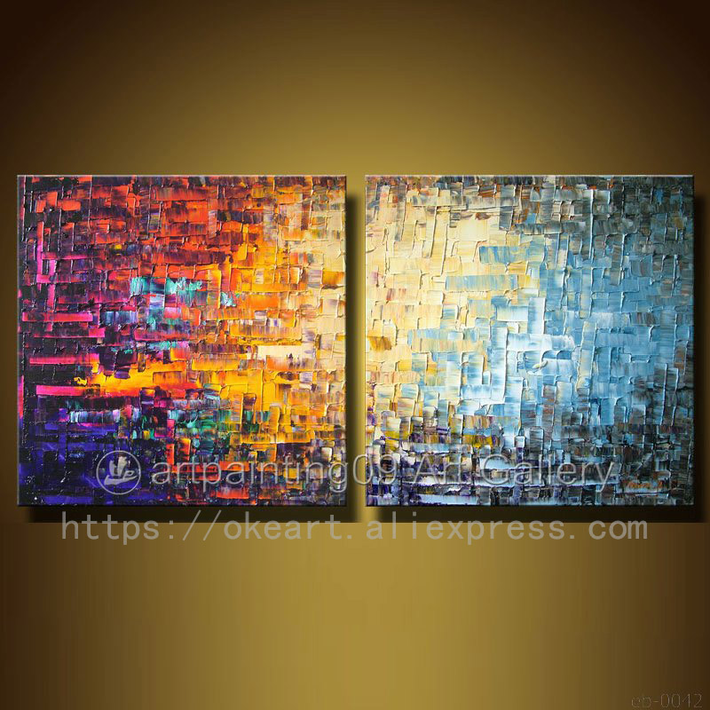Us 104 88 31 Off Modern Contemporary Abstract Hand Painted Oil Painting Landscape Palette Knife Art Deco Home Decoration Wall Art Free Shipping In