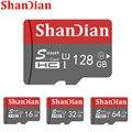 Cartão real do tf do cartão de memória do sd da capacidade 128 gb mini para o smartphone a classe de alta velocidade 10 16 gb/64 gb do cartão micro sd de shandian 32 gb