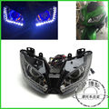Headlight for Kawasaki Ninja 250 Ninja 300 2013-2016 LED Angel Eye Blue Demon Eye Motorcycle HID Projector Assembly head lights