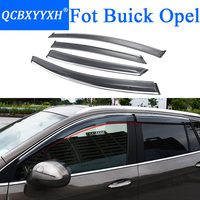 QCBXYYXH Car Styling Awnings Shelters Window Visors Rain Eyebrow For Opel Mokka Insignia Buick Envision Encore