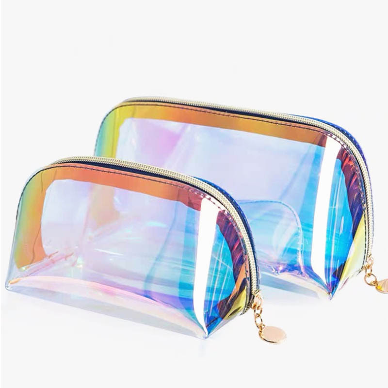 Women Waterproof Laser Cosmetic Bag Zipper Toiletry Kit Travel Wash Bag Make Up Necessaries Organizer Makeup Case Pouch Wash Box
