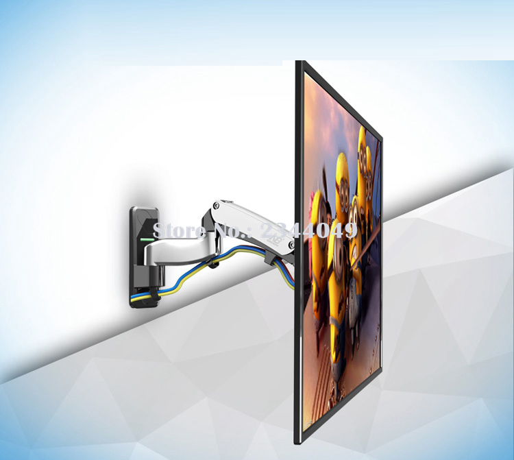 NB F500 Gas Spring 50-60 inch LED TV Wall Mount Monitor Holder Ergonomical Mount Loading ...